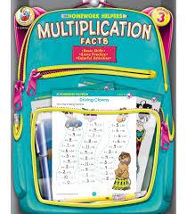 multiplication facts workbook grade 3 carson dellosa publishing