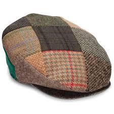 the genuine irish tweed patchwork cap hammacher schlemmer