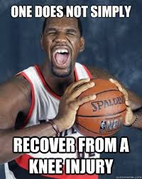 Injury Meme - one does not simply recover from a knee injury greg oden does