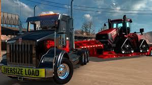 ats kenworth t 800 tri axle lowboy american truck simulator