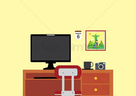 Study Table by Study Table Vector Image 1412040 Stockunlimited