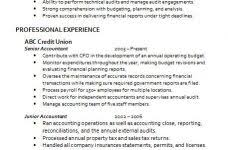 accounting resume templates jospar