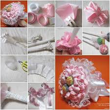 How To Make A Candy Bouquet How To Make Ribbon And Lace Candy Bouquet Step By Step Diy