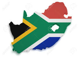 South Africa On Map by Shape 3d Of South African Flag And Map Isolated On White