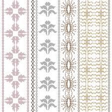 luxury bohemian wallpaper with sun symbol set of geometric