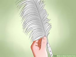 extra large feather fans how to make feather fans with pictures wikihow
