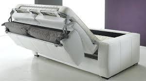 canap convertible en lit canape convertible lit cuir blanc ikea couchage quotidien 160