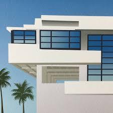 Schindler Lovell Beach House Porsche 914 6 Gt Lovell Beach House Modern Architecture Art Print