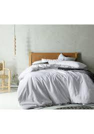 queen bed white linen cotton quilt cover set linen vintage wash