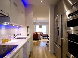 small apartment kitchen ideas pendant lamps glass countertop black