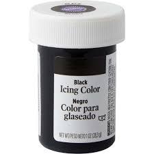 black gel food coloring icing color wilton