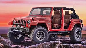 jeep red 2017 jeep wrangler red rock concept interior exterior