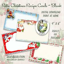 digital christmas cards vintage christmas recipe cards digital christmas clipart