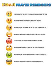 Prayer To Comfort Someone Free Emoji Prayer Reminders U2013 Children U0027s Ministry Deals