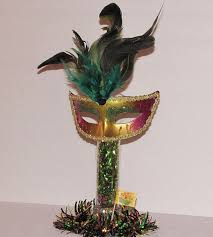 theme centerpiece mardi gras feather mask wedding theme decoration centerpiece