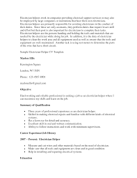 Cover Letter For Electrician Job by Sample Resume Resume Helper Electrician Exles Electrician