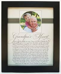 grandpa u0027s heart poem home decor frame 8x10