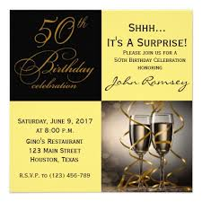 nice surprise 50th birthday party invitations wording get more
