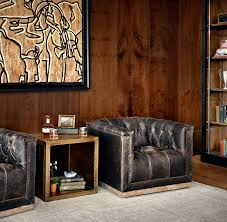Swivel Upholstered Chairs Living Room by Maxx Swivel Chair In Destroyed Black U2013 Christopher Wayne Home