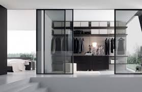 Closet Glass Door Contemporary Glass Sliding Door Walk In Closet By Home