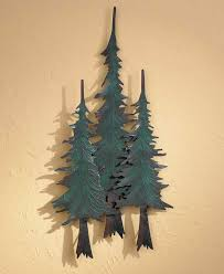 metal pine tree trio wall decor wings