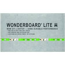 custom building products wonderboard lite 5 ft x 3 ft x 1 4 in