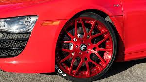 Audi R8 Red - dub magazine audi r8 on forgiato wheels