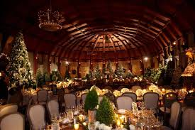 wedding with woodsy winter décor elements inside weddings
