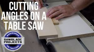 Cutting Angles On A Table Saw Youtube
