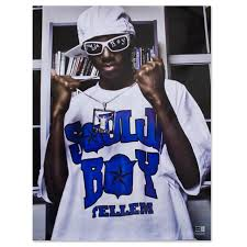soulja boy tell em standing white tee poster hover to zoom