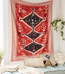 tapestry home decor amazon com uzbek suzani morocco wall tapestry red wall hanging