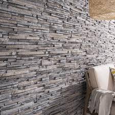 parement bois mural plaquette de parement plâtre gris ocre idaho leroy merlin