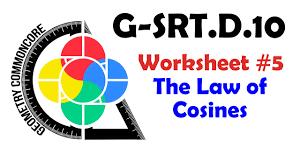 g srt d 10 worksheet 5 law of cosines youtube
