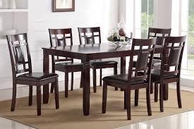 casual dining chairs poundex associates item f2294 7 pcs dining table set