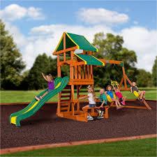 ii wooden swing set photo on fabulous backyard playground building