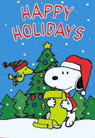 best snoopyas images on peanuts winter tree