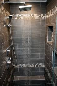 Bathroom Tile Border Ideas Colors Large Charcoal Black Pebble Tile Border Shower Accent Https Www