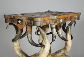igavel auctions wenzel friedrich fancy horn veneered center table