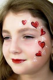red heart face painting cool face painting ideas for kids which transform the faces