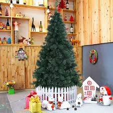 2 1m 7ft x decoration tree pine with stand green