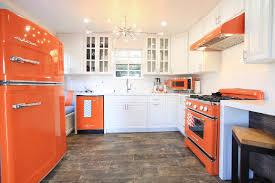 Retro Kitchen Design Orange Retro Kitchen Appliances With Modern Touch Transitional