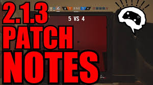 Patch 5 4 Siege Patch Notes Update 2 1 3 Rainbow Six Siege