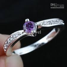 amethyst wedding rings 2018 women s lab purple amethyst wedding band silver ring size 8