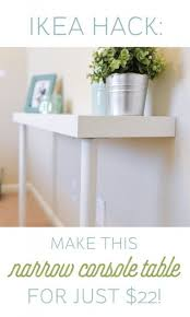 Narrow Console Table The 25 Best Ikea Console Table Ideas On Pinterest Entryway