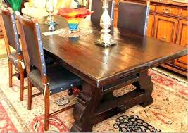 dining table mission style dining table with leaves round