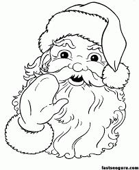 santa claus face template coloring home