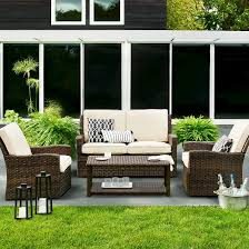 Porch Patio Furniture by Halsted 4 Piece Wicker Patio Furniture Set Threshold Target
