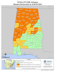 Map Alabama Alabama Severe Storms Tornadoes Straight Line Winds And