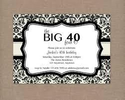 40th birthday invitations reduxsquad com