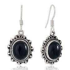 black onyx earrings onyx earrings sterling silver